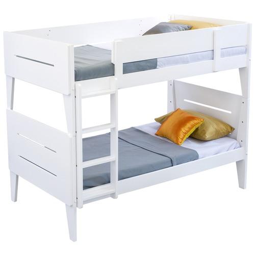 Dodicci White Castle Single Bunk Bed
