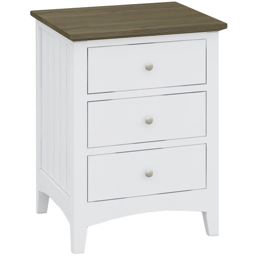 Dodicci Brittany Bedside Table with 3 Drawers