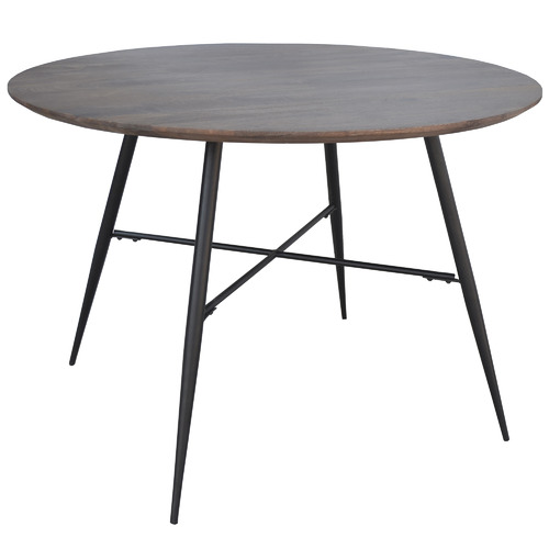 Dodicci Dark Timber Lexington Round Dining Table