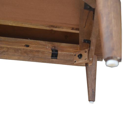 Dodicci Dark Timber Retro Mango Wood Coffee Table