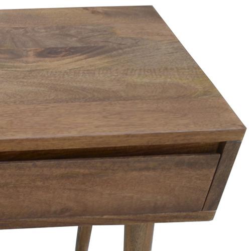 Dodicci Dark Timber Retro Wooden Console Table