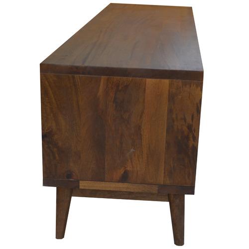 Dodicci Dark Timber Retro Wooden TV Unit
