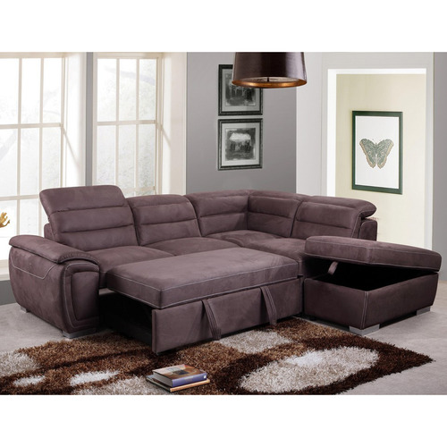 Dodicci Cara Corner Sofa Bed with Ottoman