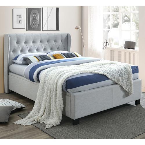Dodicci Light Grey Consola Gas Lift Queen Bed