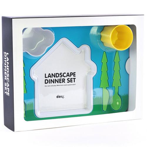 doiy 7 Piece Landscape Kids' Dinner Set