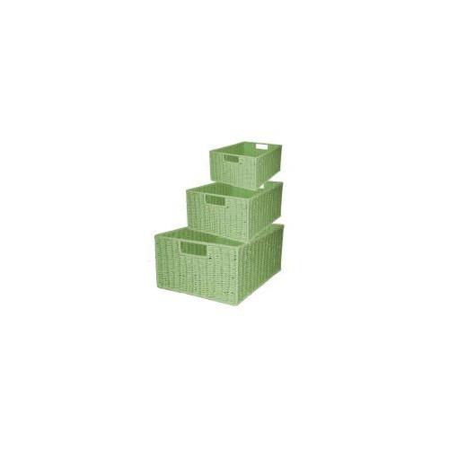 Cane Design Rectangular Storage Baskets