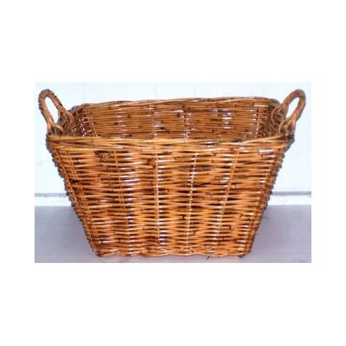 Cane Design Single Rectangular Rattan Utility Basket