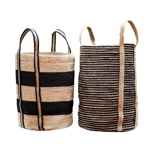 Cane Design 2 Piece Felicity Jute Basket Set