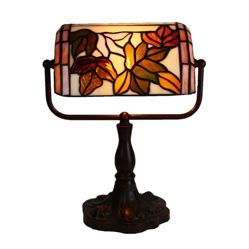 Floral banker table lamp temple webster tiffany emporium floral banker table lamp aloadofball Images