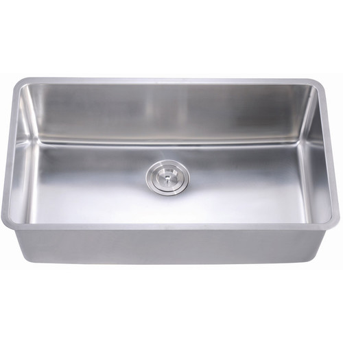 Long Kitchen Sink : Versastyle Extra Long Rectangular Deep Single Bowl Kitchen Sink with ...