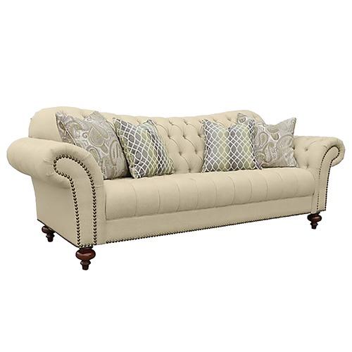 Classic Malaga Button Tufted Sofa Temple Webster