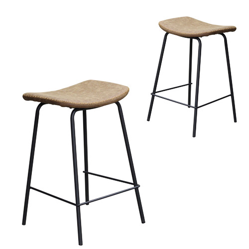 69cm Industrial Faux Leather Barstool