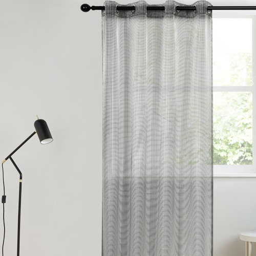 Home Living Black Kyoto Concealed Single Panel Eyelet Curtain