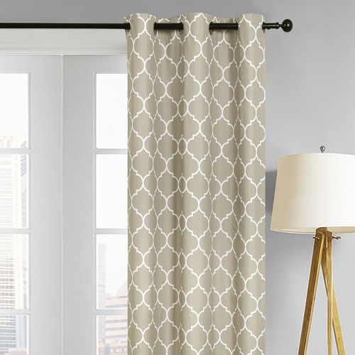 Home Living Taupe Warsaw Single Panel Eyelet Curtain