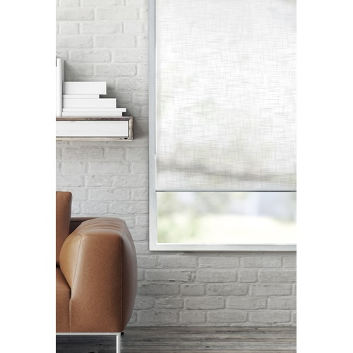 Home Living White Faux Linen Roller Blind