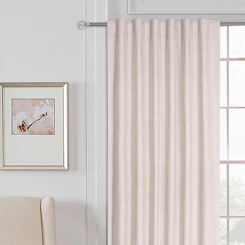 Home Living Linen Single Panel Concealed Tab Top Curtain