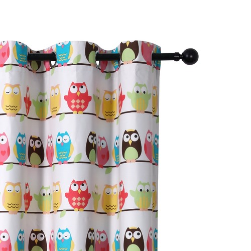 Home Living Owls Single Panel Eyelet Curtain