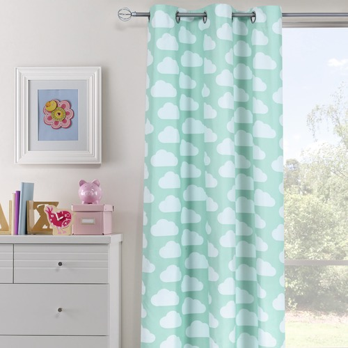 Home Living Clouds Single Panel Eyelet Curtain