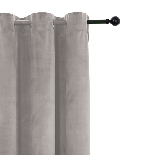 Home Living Velvet Single Panel Eyelet Curtain