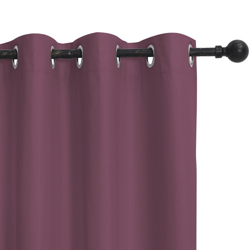 Home Living Wine Albany Single Panel Eyelet Blockout Curtain