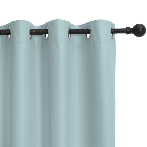 Home Living Blue Albany Single Panel Eyelet Blockout Curtain