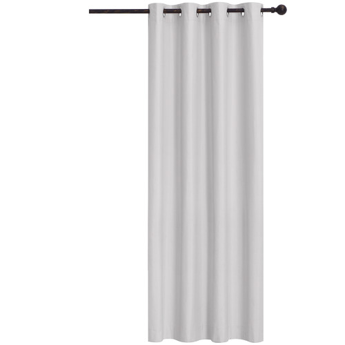 Home Living Silver Albany Single Panel Eyelet Blockout Curtain