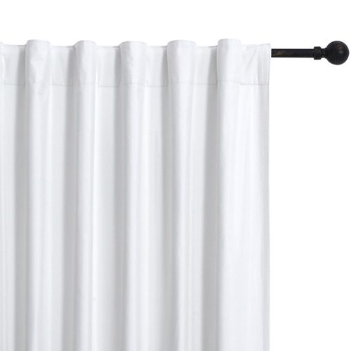 Home Living Ivory Albany Single Panel Concealed Tab Top Blockout Curtain