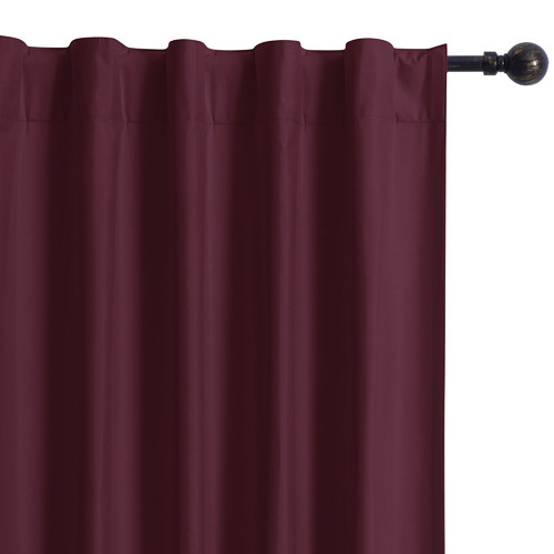 Home Living Wine Albany Single Panel Concealed Tab Top Blockout Curtain