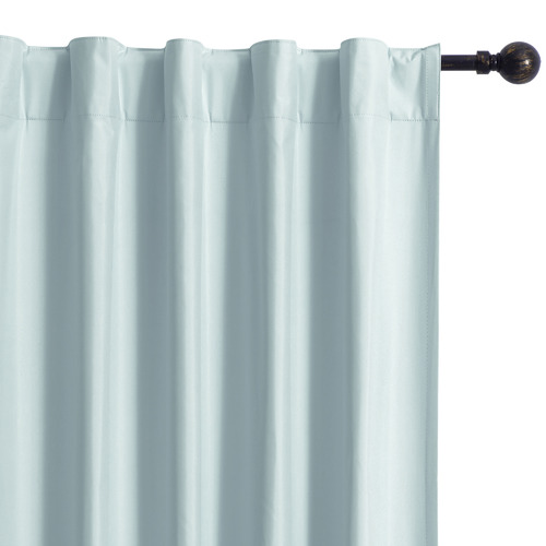 Home Living Blue Albany Single Panel Concealed Tab Top Blockout Curtain