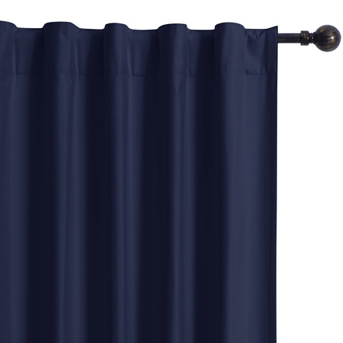 Home Living Navy Albany Single Panel Concealed Tab Top Blockout Curtain
