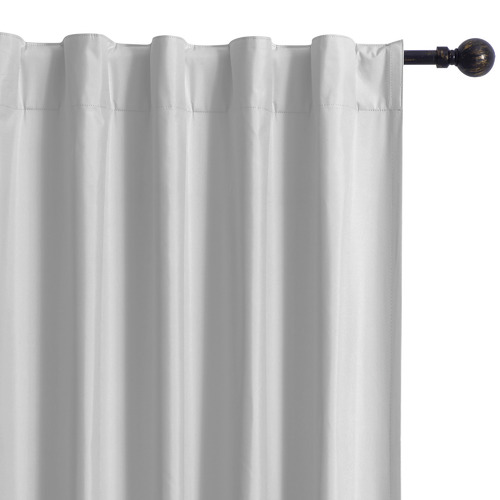 Home Living Silver Albany Single Panel Concealed Tab Top Blockout Curtain