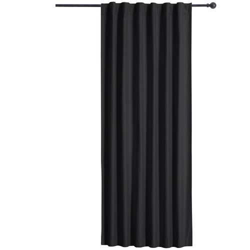 Home Living Black Albany Single Panel Concealed Tab Top Blockout Curtain