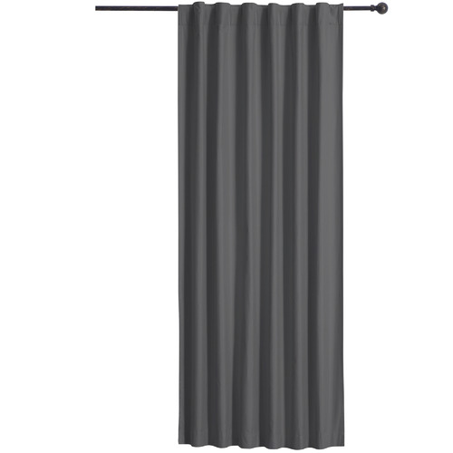 Home Living Grey Albany Single Panel Concealed Tab Top Blockout Curtain
