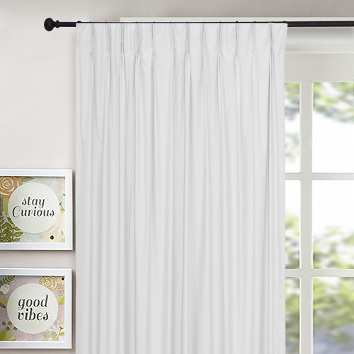 Home Living Ivory Albany Pinch Pleat Blockout Curtains