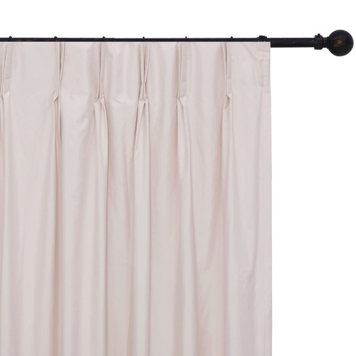 Home Living Pink Albany Pinch Pleat Blockout Curtains