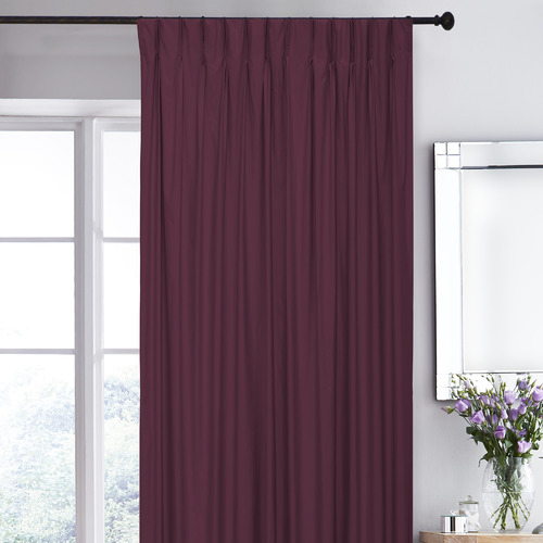Wine Albany Pinch Pleat Blockout Curtains