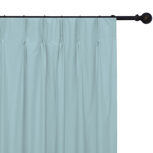 Home Living Blue Albany Pinch Pleat Blockout Curtains