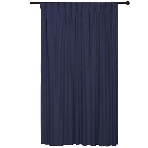 Home Living Navy Albany Pinch Pleat Blockout Curtains