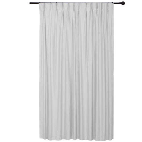 Home Living Silver Albany Pinch Pleat Blockout Curtains