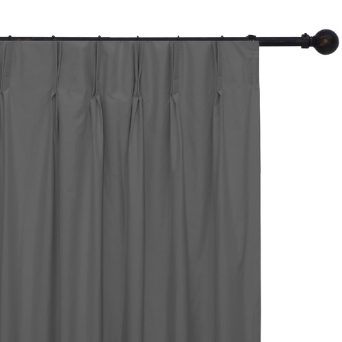 Home Living Grey Albany Pinch Pleat Blockout Curtains