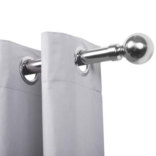 Home Living Unix Ball Extendable Metal Curtain Rod Set
