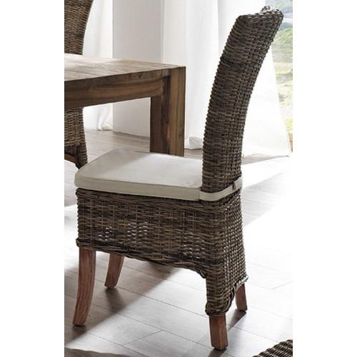 balmoral designs halifax salsa kubu rattan dining chair with cushion