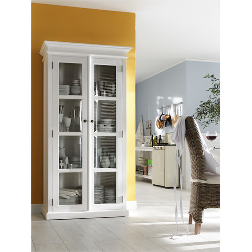 White Distressed Kitchen Cabinets