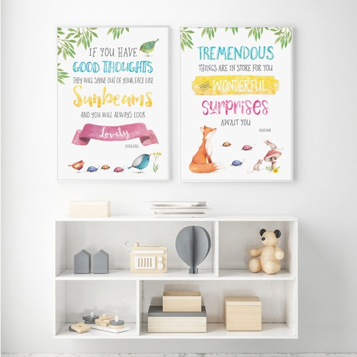 Almond Tree Designs Roald Dahl Tremendous Things Are In Store Framed Print