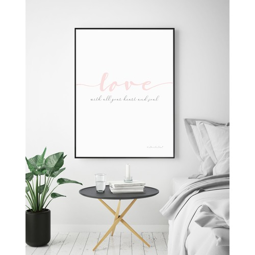 Almond Tree Designs Love With All Your Heart Framed Print