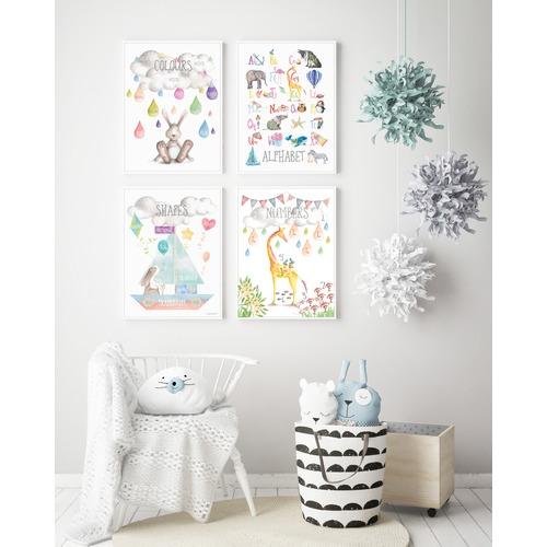 Almond Tree Designs Watercolour Shapes Framed Print