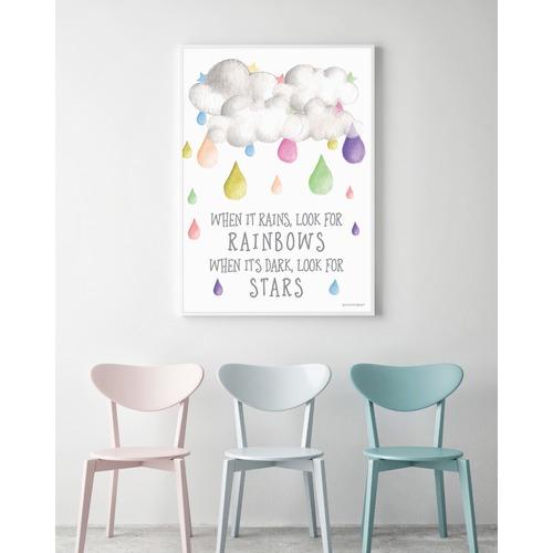Almond Tree Designs Look For Rainbows Raindrop Framed Print