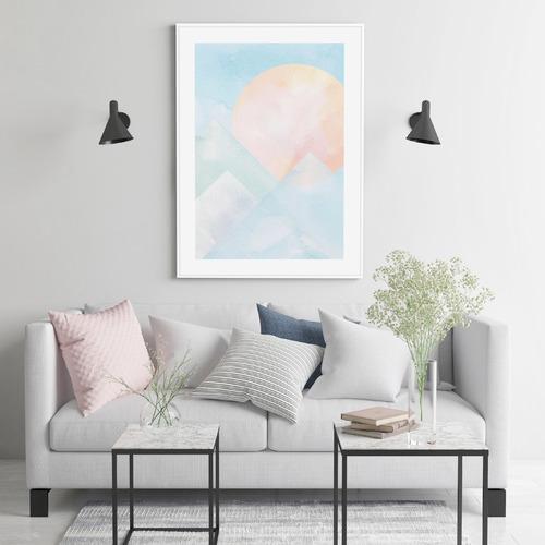Almond Tree Designs Blue Mountain Sunrise Framed Print