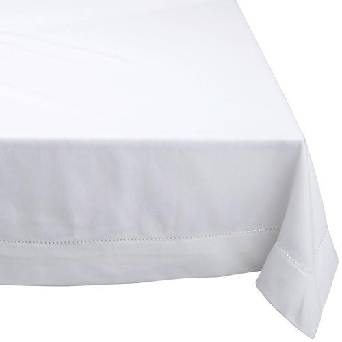 RANS White Hemstitch Cotton Tablecloth