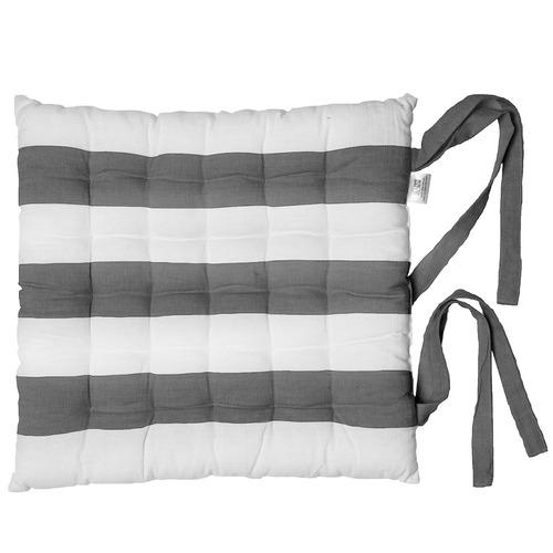 Stripy Al Fresco Cotton Chair Pad